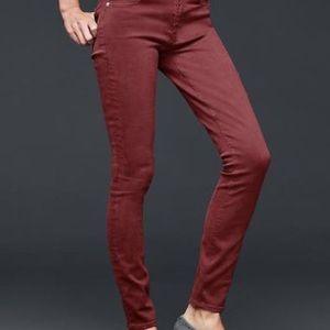 GAP 1969 burnt red skinny jeans
